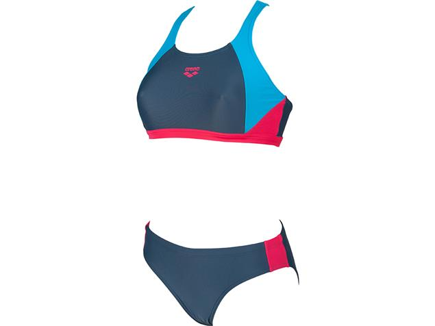 Arena Ren  Schwimmbikini - 40 shark/turquoise/fresia rose