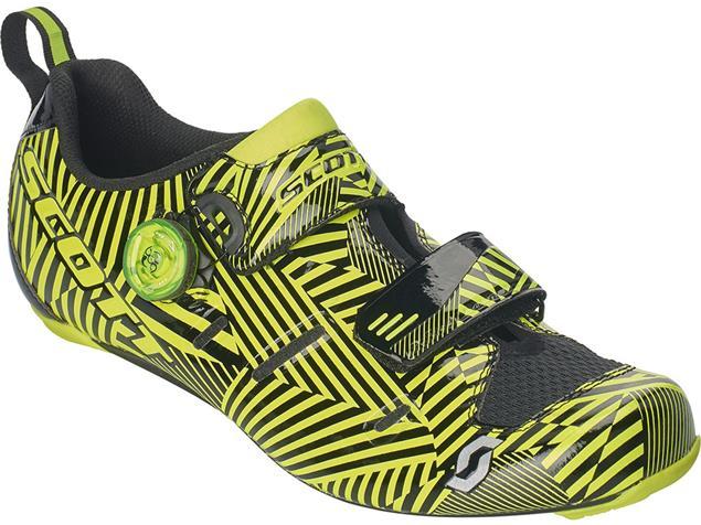 Scott Road Tri Carbon Triathlon Schuh - 48 black/sulphur yellow