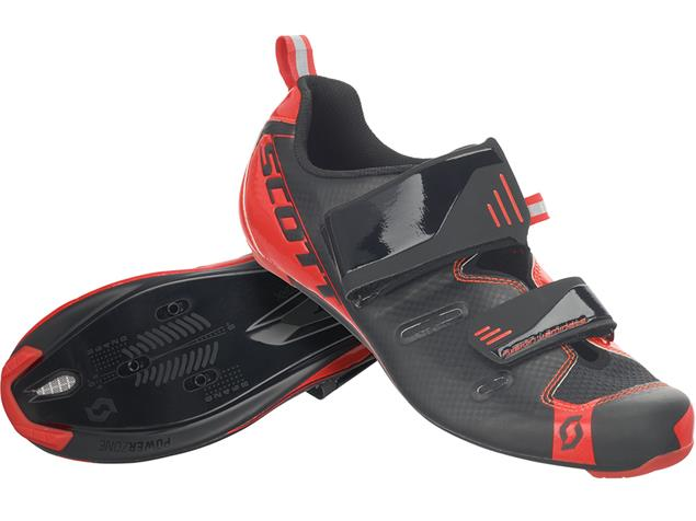 Scott Road Tri Pro Triathlon Schuh - 44 black/neon red gloss