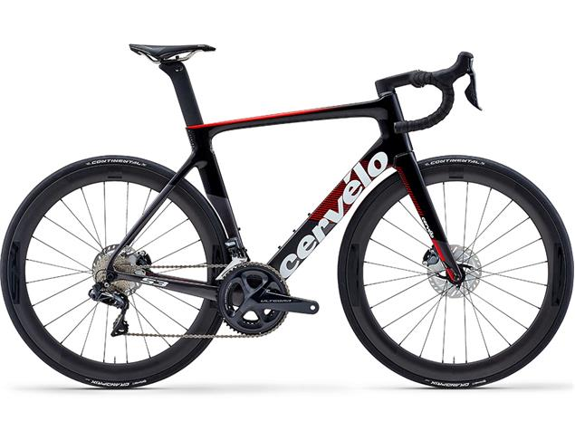 Cervelo S3 Disc Ultegra Di2 Rennrad - 58 graphite/black/red