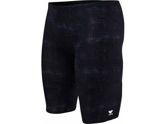 TYR Sandblasted All Over Jammer Badehose black - 7