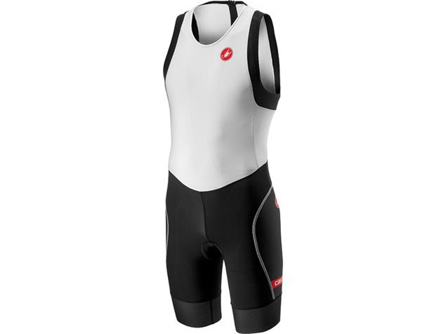 Castelli Short Distance Suit Einteiler - L white/black