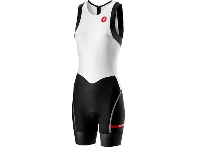 Castelli Short Distance Women Suit Einteiler - L white/black