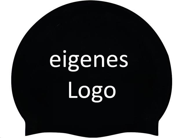 Smit Sport Soft Silikon 50 Badekappen eigenes Logo M zwei Druckfarben - black