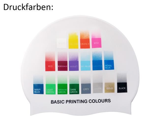 Smit Sport Soft Silikon 50 Badekappen eigenes Logo M eine Druckfarbe - pink