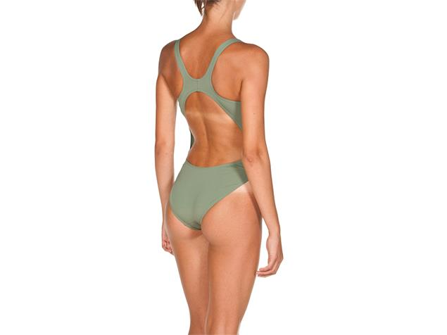 Arena Solid High Badeanzug Swim Tech Back - 42 army/shiny green