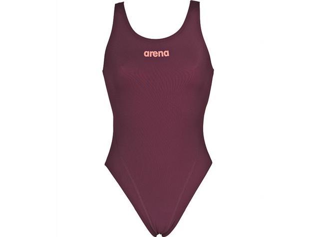 Arena Solid High Badeanzug Swim Tech Back - 40 red wine/shiny pink
