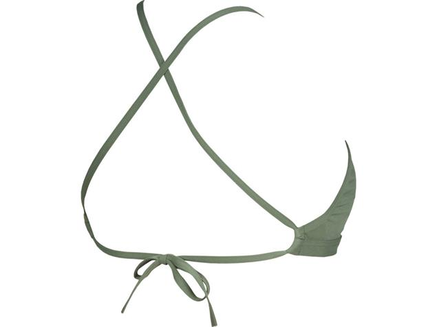 Arena Solid Tie Back Top Schwimmbikini Oberteil - 38 army/shiny green