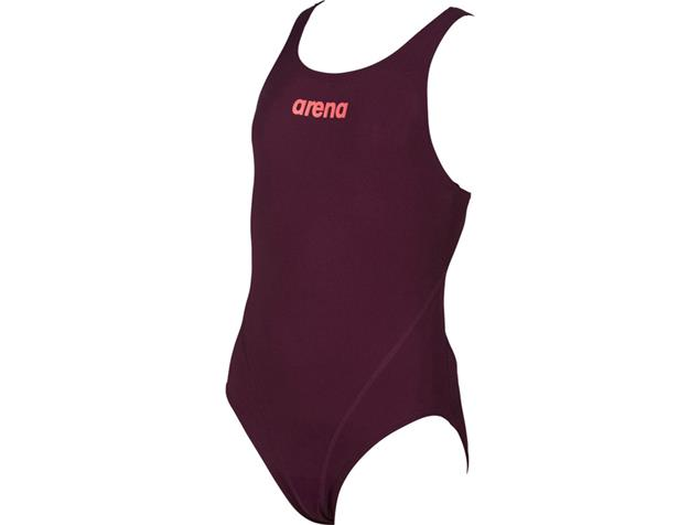 Arena Solid Youth Mädchen Badeanzug Swim Tech Back - 152 red wine/shiny pink