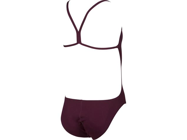 Arena Solid Youth Mädchen Badeanzug Light Tech Back - 128 red wine/shiny pink