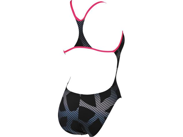 Arena Spider Badeanzug Booster Back - 38 black/fresia rose