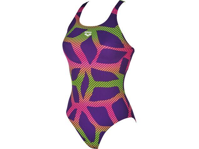 Arena Spider Badeanzug Swim Pro Back - 36 mirtilla/leaf