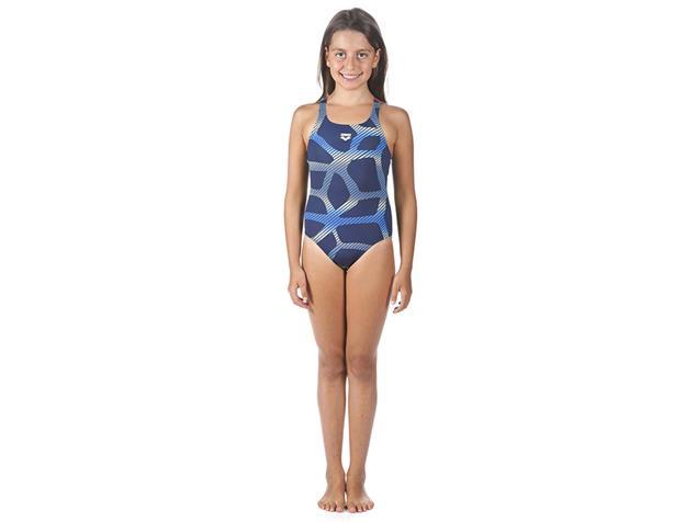 Arena Spider Mädchen Badeanzug Swim-Pro Back - 164 navy/red
