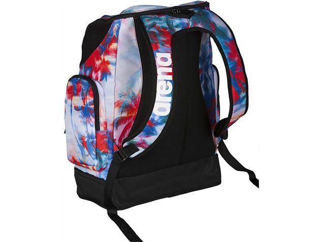 Arena Spiky 2 Large Backpack Rucksack Limited, 40 Liter - palms red/blue