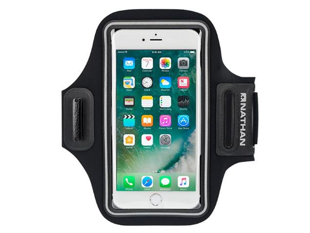 Nathan Stride Smartphone Sportarmband - black