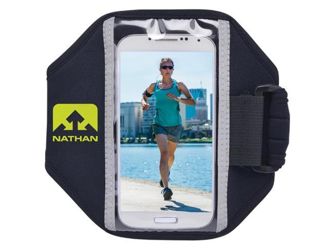Nathan Super 5K Smartphone Sportarmband - black/sulfur spring