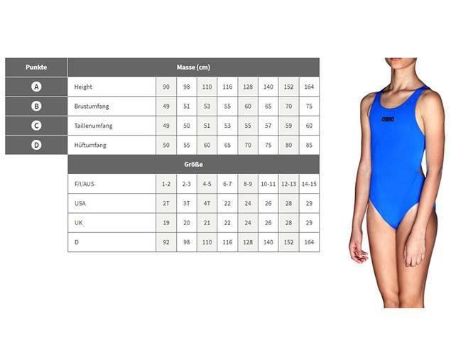 Arena Swim&Roll Mädchen Badeanzug New V Back - 128 black/turquoise