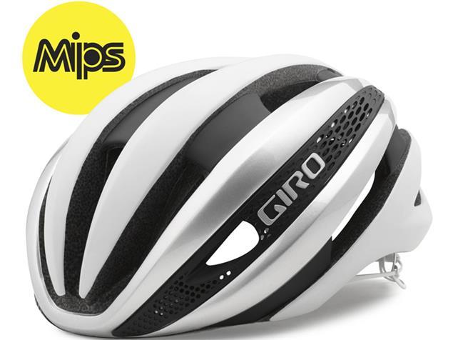 Giro Synthe MIPS 2020 Helm - L matte white/silver