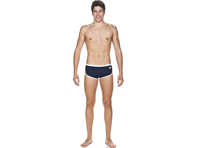 Arena Team Stripe Low Waist Badehose - 6 navy/white