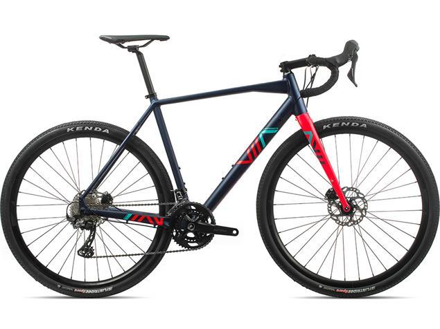 Orbea Terra H30-D Gravel Roadbike - L dunkelblau/bright red