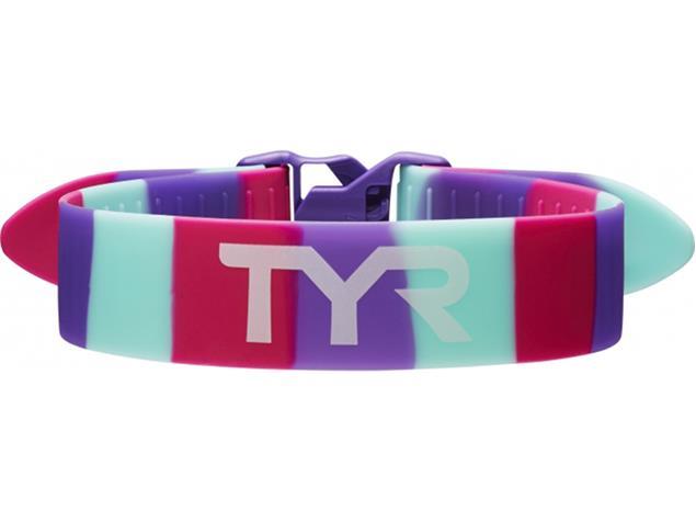 TYR Training Pull Strap Knöchelbande - pink/purple