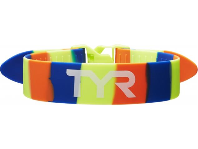 TYR Training Pull Strap Knöchelbande - yellow/blue