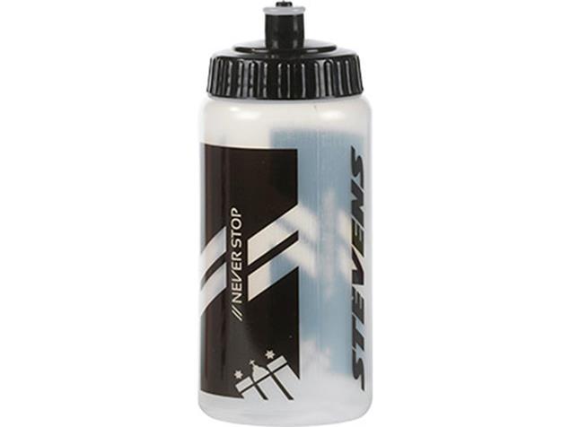 Stevens Trinkflasche 500 ml - transparent/schwarz
