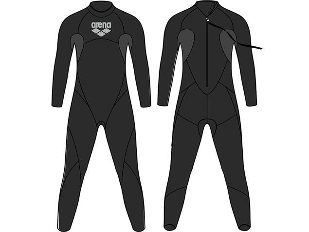 Arena Triwetsuit Carbon Men Neoprenanzug black/silver - S