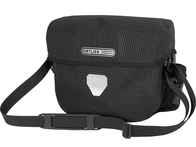 Ortlieb Ultimate Six High Visibility 7 L Lenkertasche - black reflective