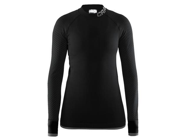 Craft Warm Intensity Women Langarm-Shirt - L black/granite