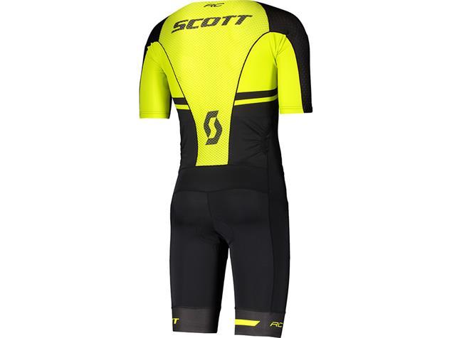 Scott Plasma Long Distance Suit Tri Einteiler - M black/sulphur yellow